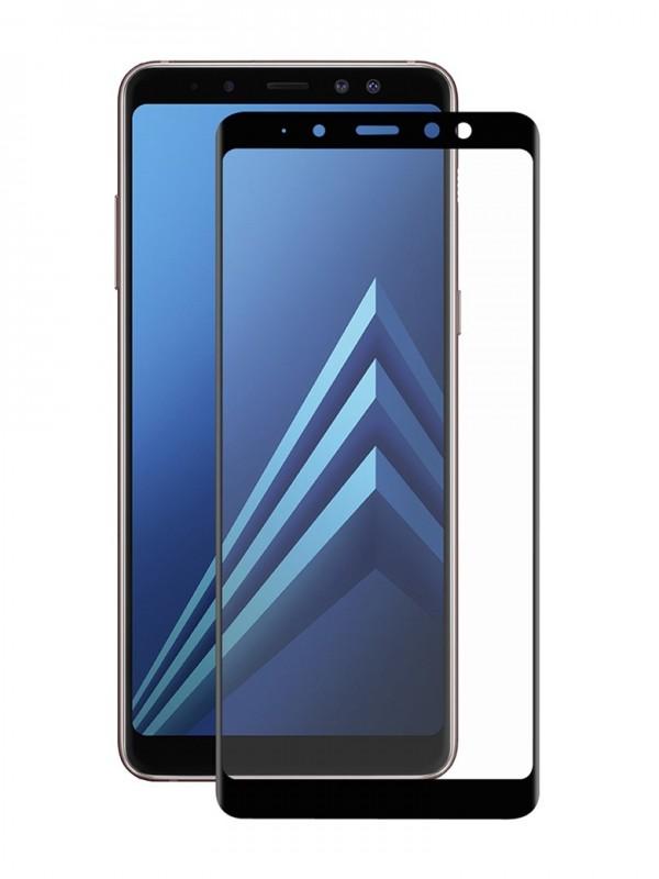 Folie Sticla Tempered Glass Full Glue 9H ,Samsung A5 / A8 (2018) ,Negru