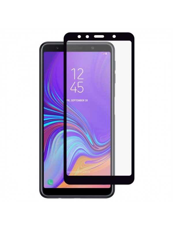 Folie Sticla Tempered Glass Full Glue 9H , Samsung A7 (2018), Negru