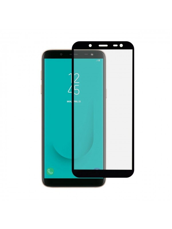 Folie Sticla Tempered Glass Full Glue 9H Samsung J6 (2018) ,Negru