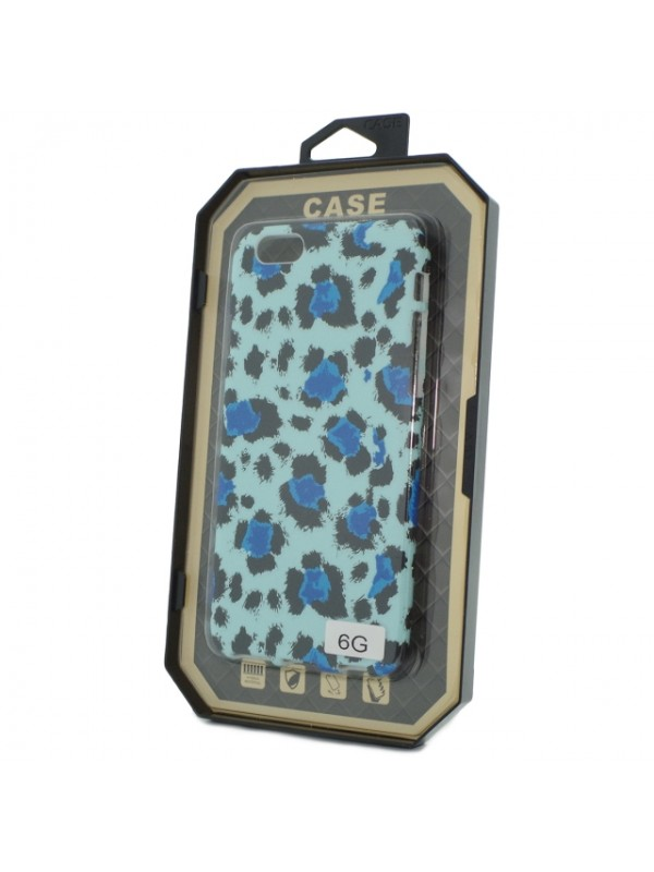 Husa Iphone 6/6s Fosforescenta Blue Animal Print