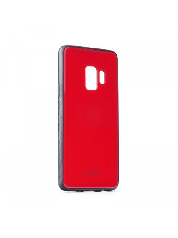 Husa Glass Case - Samsung S9 Plus, Rosu