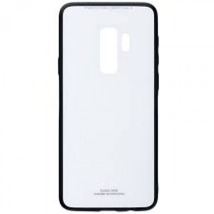 Husa Glass Case - Samsung S9 Plus,  Alb