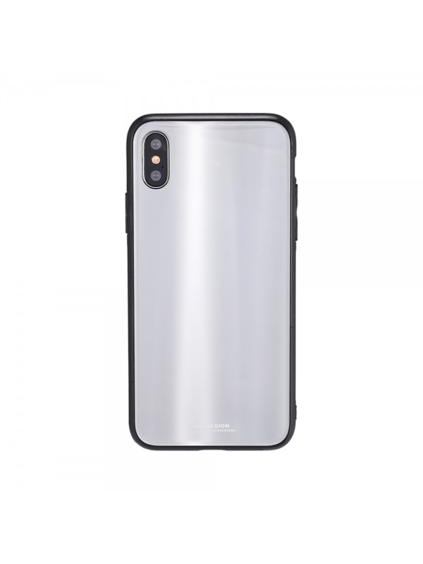 Husa Glass Case - Apple iPhone XS, Alb