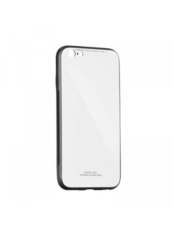 Husa Glass Case - Apple iPhone XR, Alb
