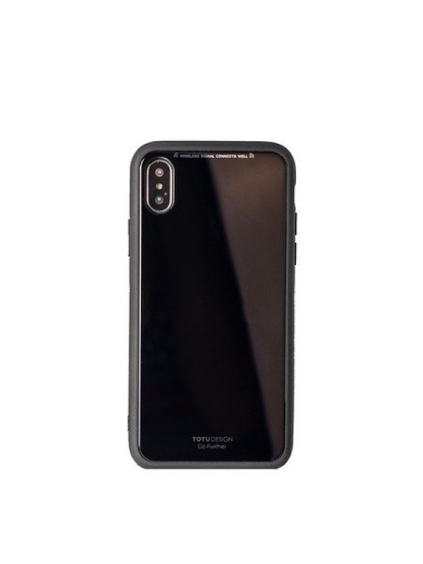 Husa Glass Case - Apple iPhone XS Max, Negru