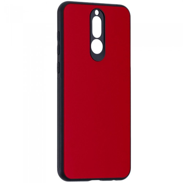 Husa Glass Case - Huawei Mate 10 Lite, Rosu