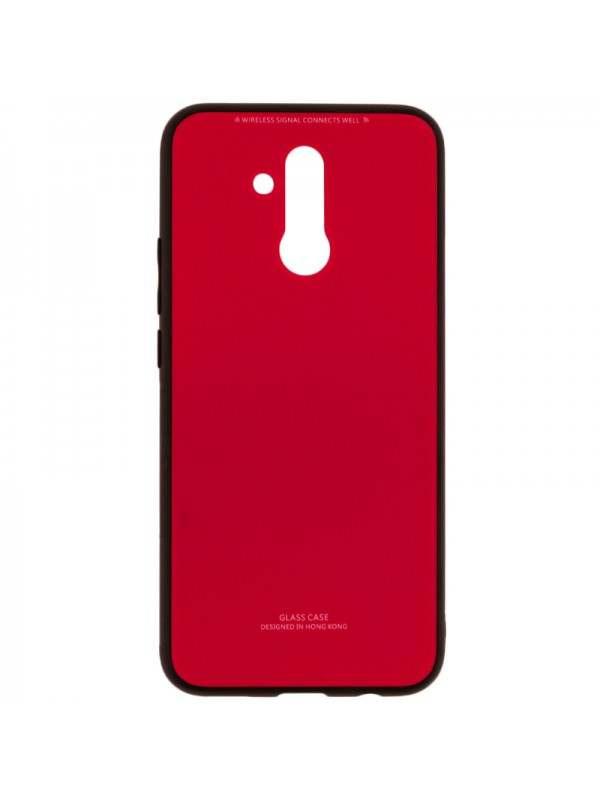 Husa Glass Case - Huawei Mate 20 Lite,Rosu