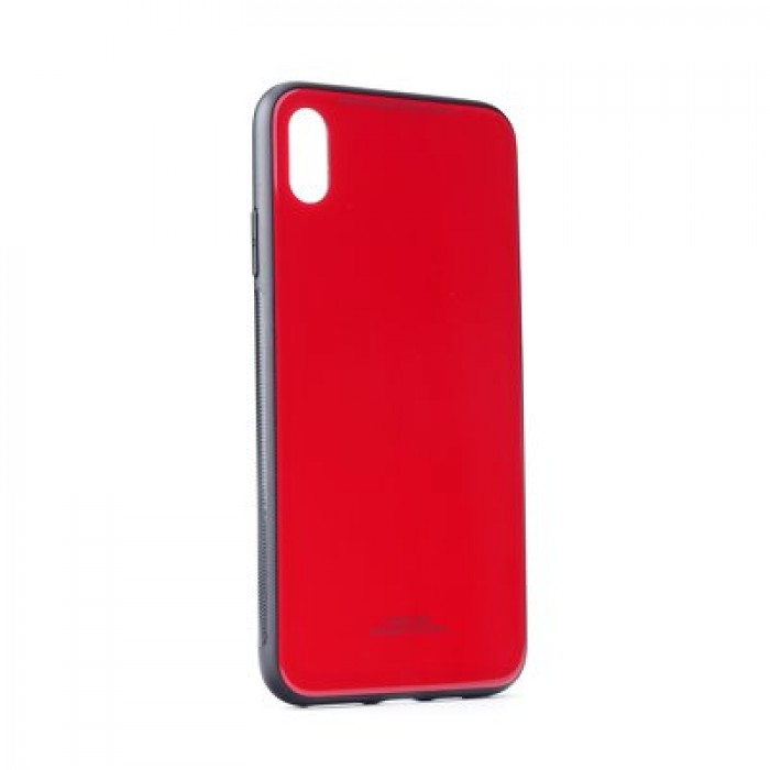 Husa Glass Case - Apple iPhone XS Max, Rosu