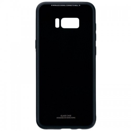 Husa Glass Case, Samsung S8 Plus, Negru