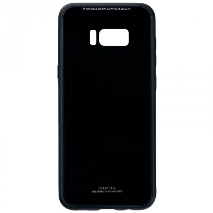 Husa Glass Case -Samsung S8 Plus, Negru