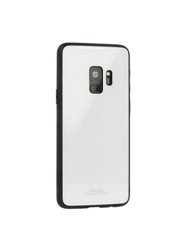 Husa Glass Case - Samsung J4 Plus, Alb