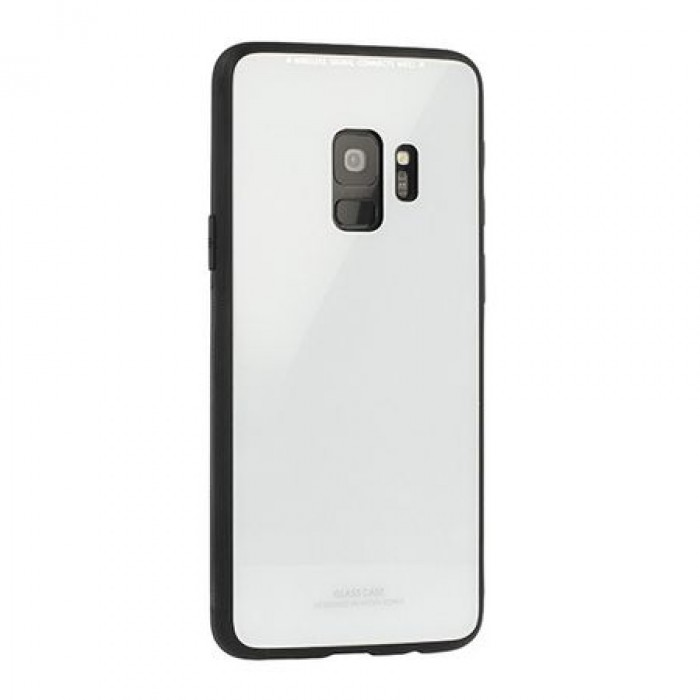 Husa Glass Case - Samsung J6 Plus (2018), Alb