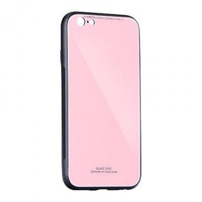 Husa Glass Case - Huawei P Smart (2018), Roz