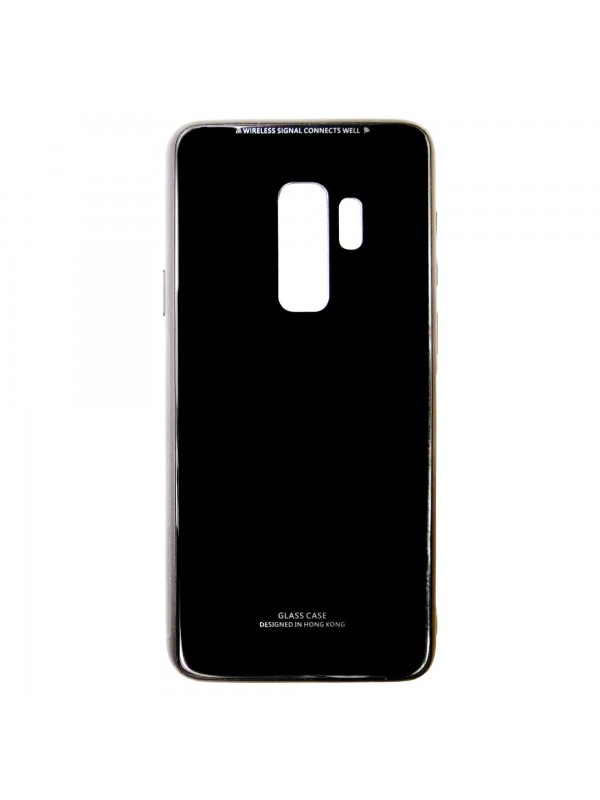 Husa Glass Case - Samsung S9 Plus, Negru