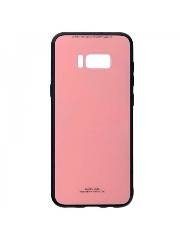 Husa Glass Case, Samsung S8 Plus, Roz