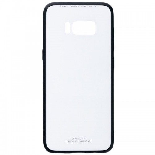 Husa Glass Case, Samsung Galaxy S8 Plus, Alb