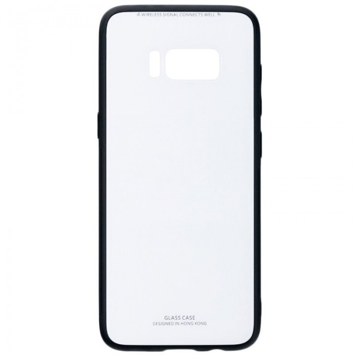 Husa Glass Case -Samsung S8 Plus,Alb
