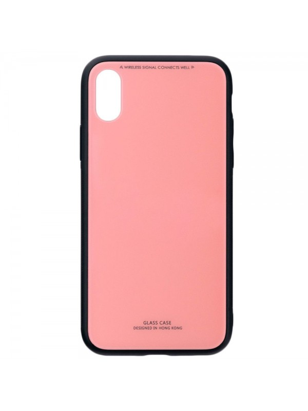 Husa Glass Case - Apple iPhone XS, Roz