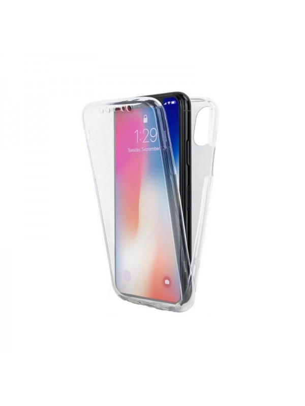 Husa silicon 360 fata+spate, iPhone XR, Transparent