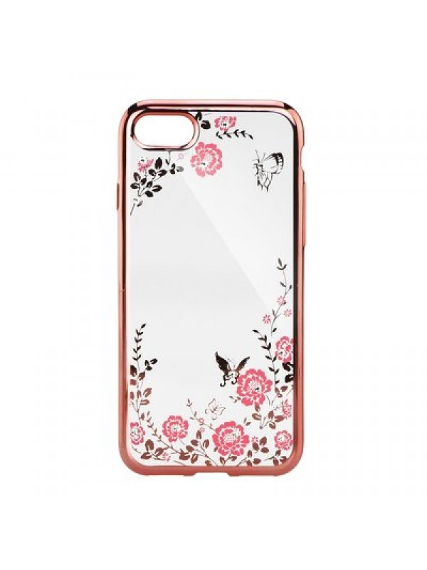 Husa Diamond iPhone 7/8 ,Rose/Auriu