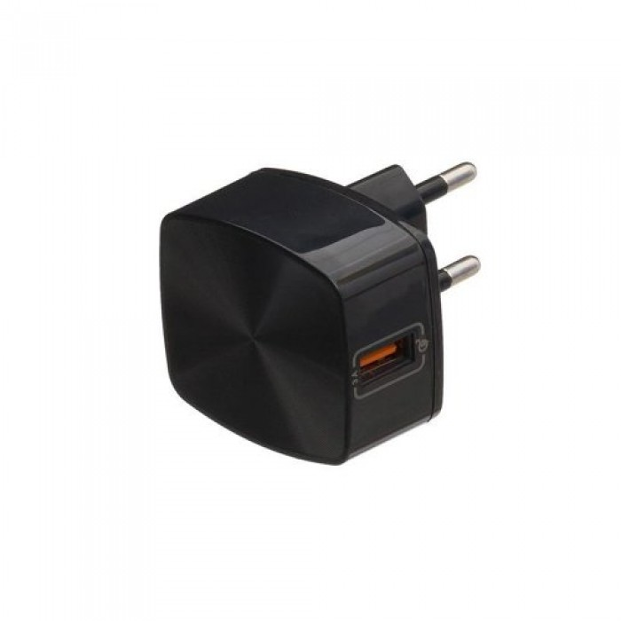 Adaptor priza Remax, Quick Charge, USB 3.0 3A, Negru