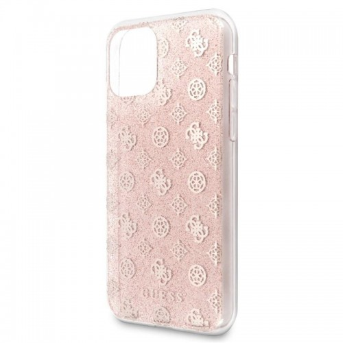 Husa de protectie, Guess Peony Solid Glitter, iPhone 11 Pro, Roz