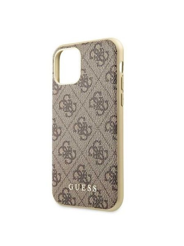 Husa de protectie, Guess 4G Collection, iPhone 11 Pro, Maro