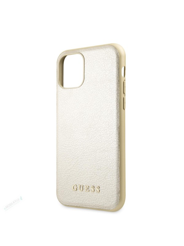 Husa de protectie, Guess Iridescent, iPhone 11, Crem