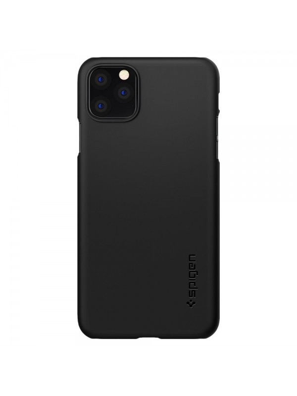 Husa iPhone 11 Pro, Spigen Thin Fit, Negru