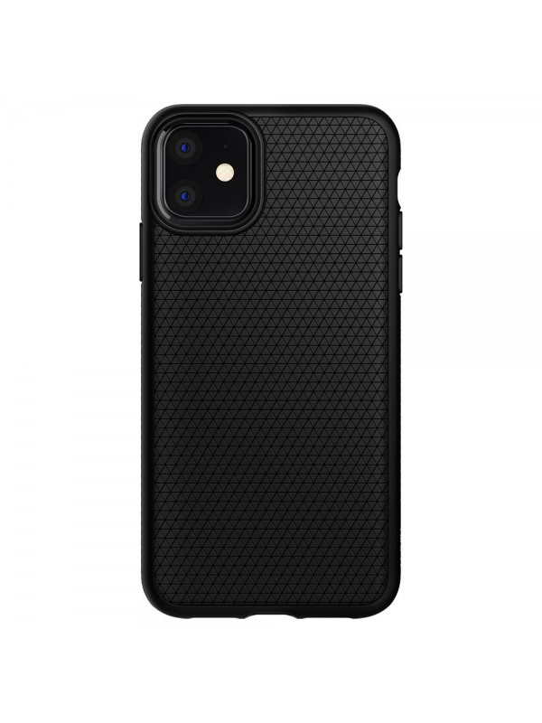 Husa iPhone 11, Spigen Liquid Air, Negru