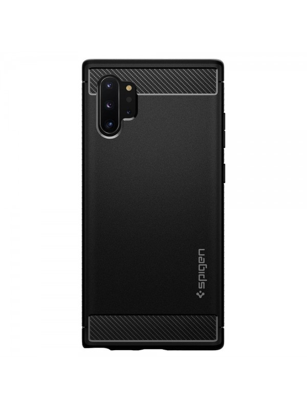 Husa Samsung Note 10 Plus, Spigen Rugged Armor, Negru