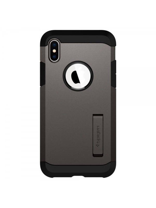 Husa Samsung iPhone X/XS, Spigen Tough Armor, Gunmetal