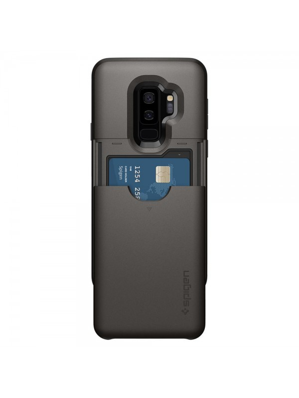 Husa Samsung Galaxy S9 Plus, Spigen Slim Armor Air Cushion CS, Gunmetal