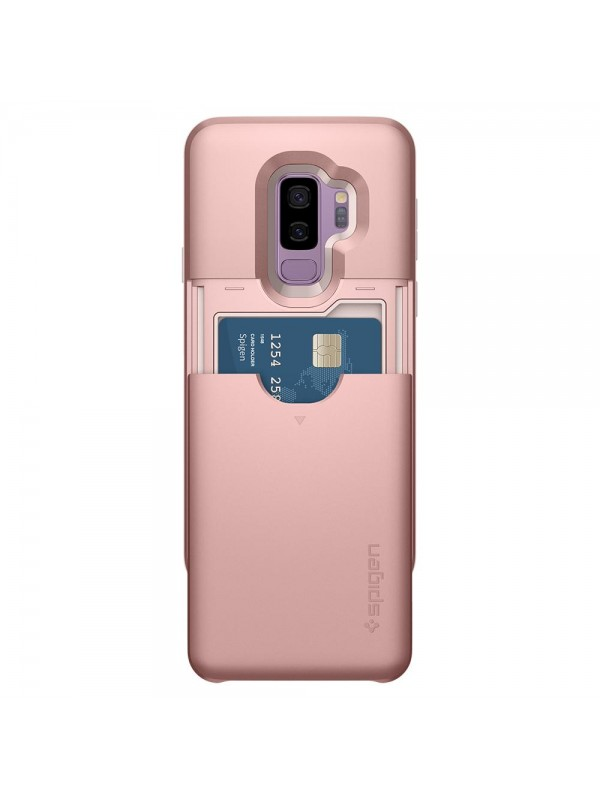 Husa Samsung Galaxy S9 Plus, Spigen Slim Armor Air Cushion CS, Rose Gold