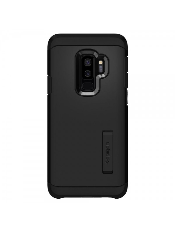 Husa Samsung Galaxy S9 Plus, Spigen Tough Armor Air Cushion, Negru