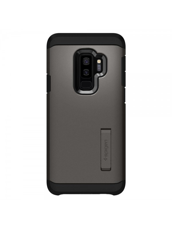 Husa Samsung Galaxy S9 Plus, Spigen Tough Armor Air Cushion, Gunmetal