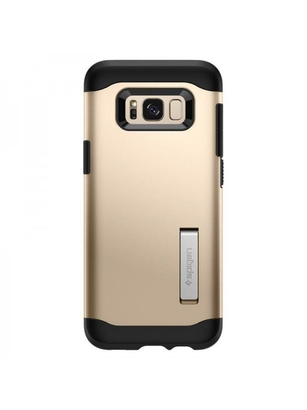 Husa Samsung Galaxy S8 Plus, Spigen Slim Armor Air Cushion, Auriu