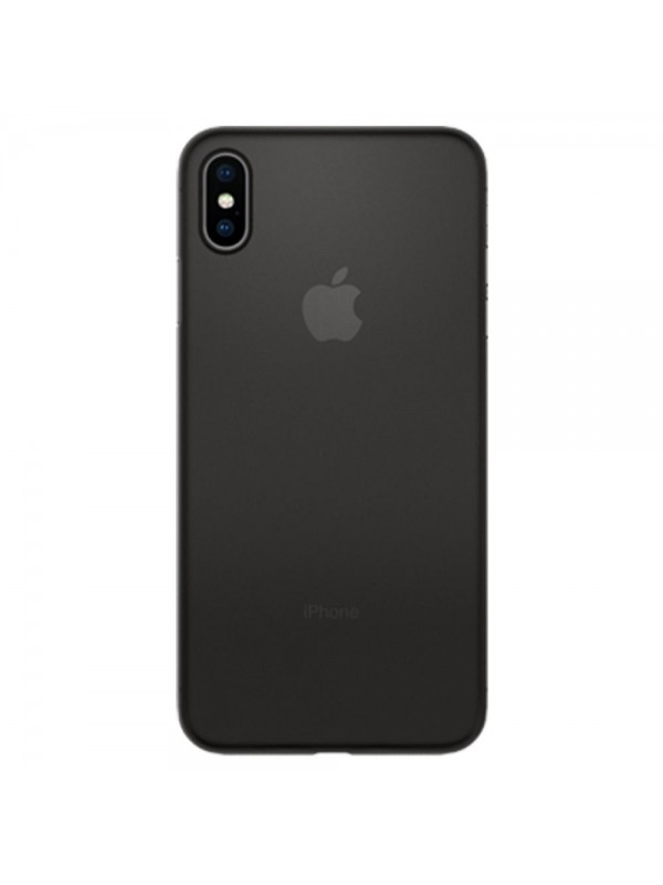 Husa iPhone XS Max, Spigen Air Skin, Negru