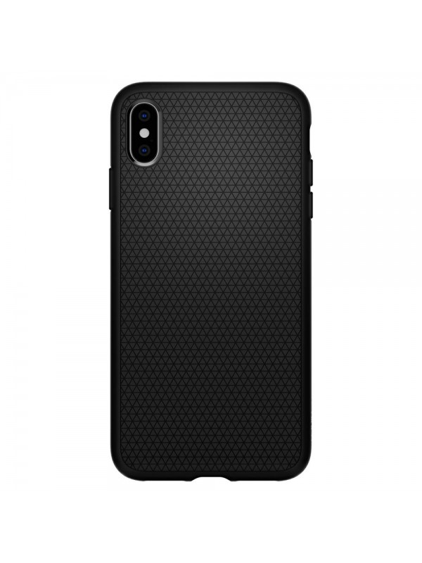 Husa iPhone XS Max, Spigen Liquid Air, Negru Matte