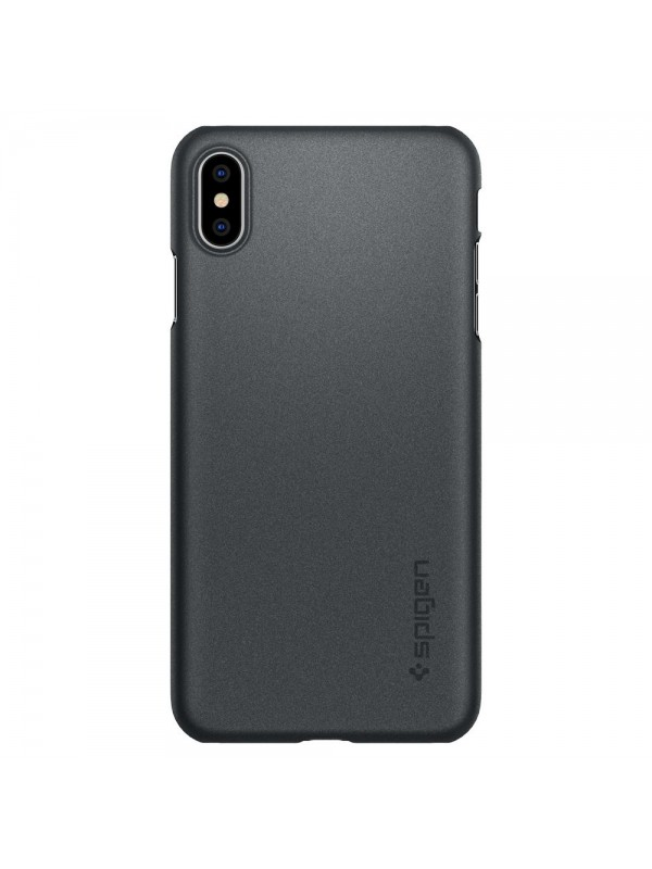 Husa iPhone XS Max, Spigen Thin Fit, Gri