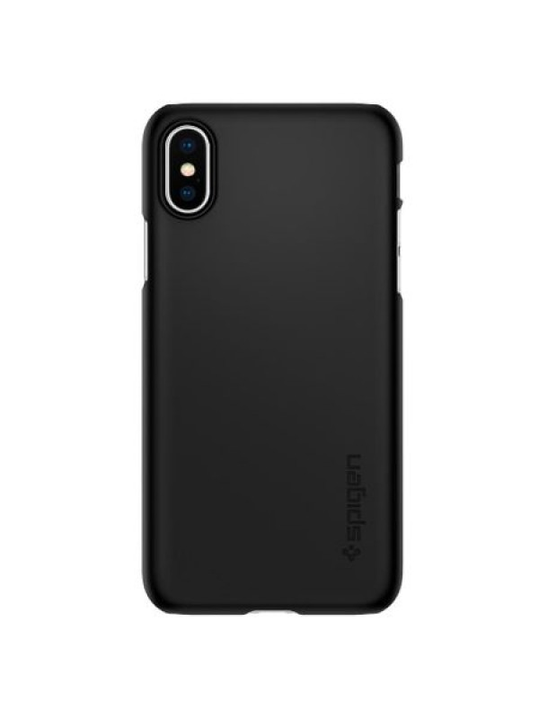 Husa iPhone X/XS, Spigen Thin Fit, Negru