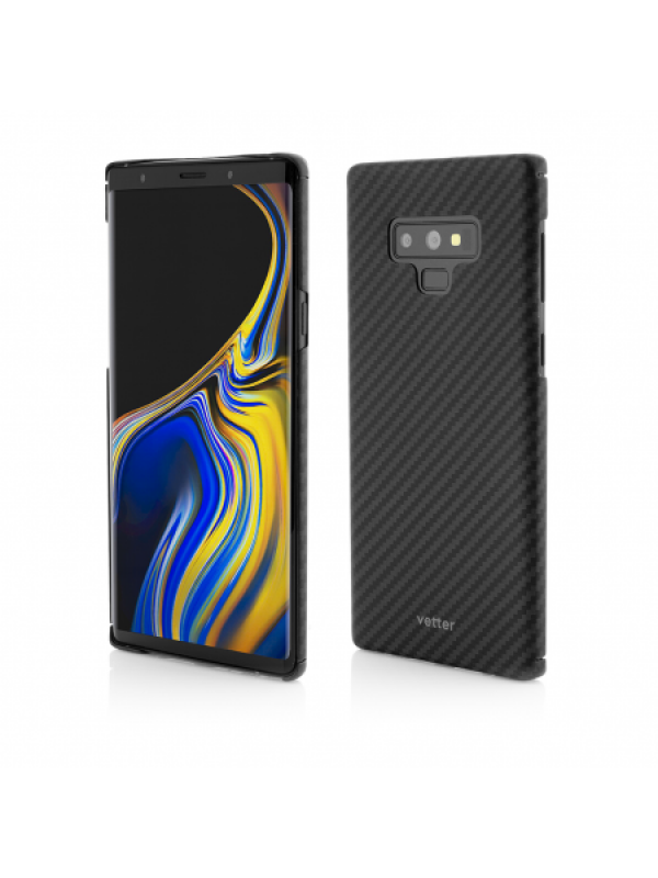 Husa Vetter Samsung Galaxy Note 9 Clip-On Ultra Slim Made from Aramid Fiber Kevlar Negru