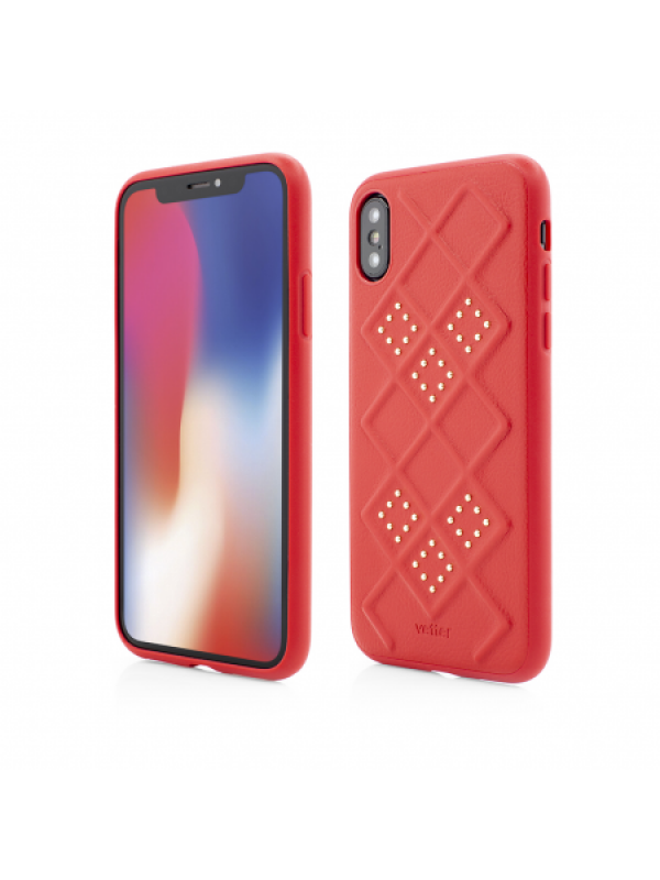 Husa Vetter iPhone Xs Smart Case 3D Rhombus Design Rosu