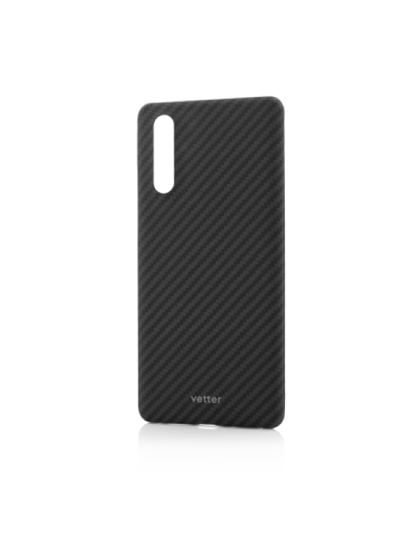 Husa Huawei P30 Clip-On Ultra Slim Made from Aramid Fiber Kevlar Negru