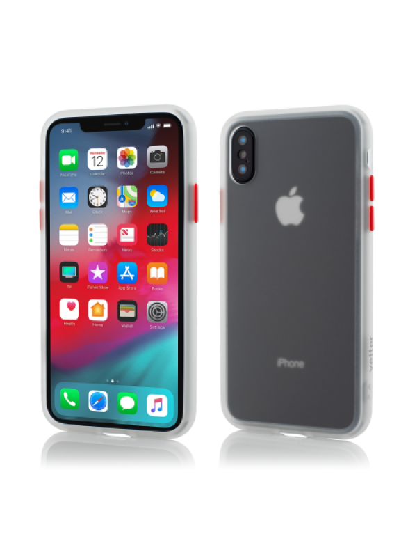 Husa Vetter iPhone Xs, X Clip-On Hybrid Protection Shockproof Soft Edge and Rigid Matte Back Cover Transparenta