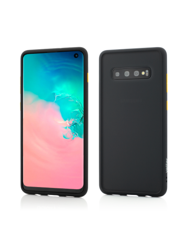 Husa Vetter Samsung Galaxy S10 Clip-On Hybrid Protection Shockproof Soft Edge and Rigid Matte Back Cover Negru