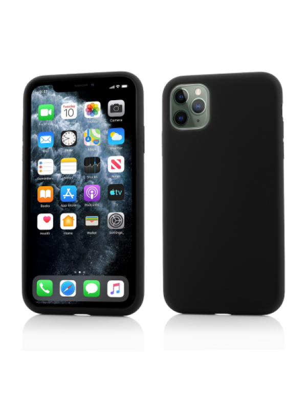 Husa Vetter iPhone 11 Pro Clip-On Soft Touch Silk Series Negru