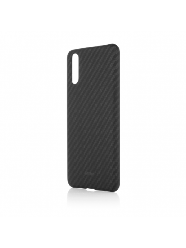 Husa Vetter, Huawei P20, Smart Case Carbon Design Rubber Feel, Negru