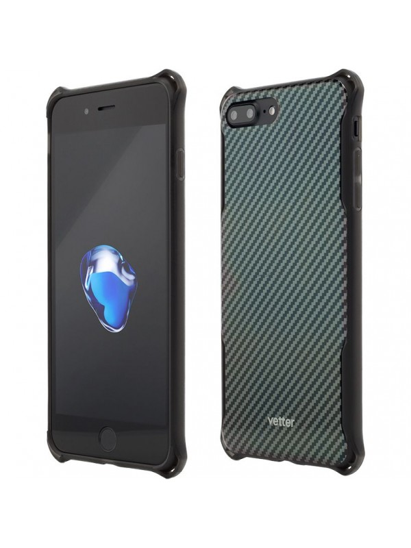 Husa iPhone 8 Plus, 7 Plus, Clip-On Hybrid Xtra Carbon look Vetter
