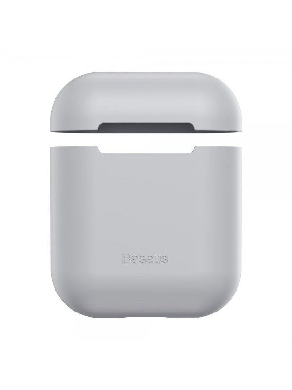 Husa protectoare AirPods, Baseus Ultrathin Series, Gri